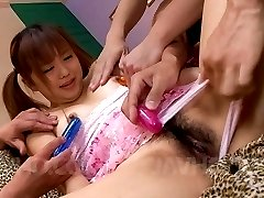 Noriko Kago Asian is rewarded with vibrators for sucking dicks