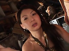 Hikari Sawami Asian in fishnets sucks and JapaneseSlurp.com
