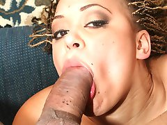 Dirty ebony whore gets a massive load deep in her tight ass