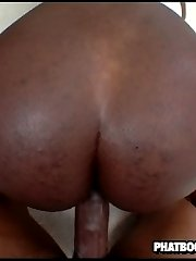 horny black slut gets fucked in her fat dent