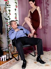 Raunchy chick in soft pantyhose seducing policeman into frenetic banging