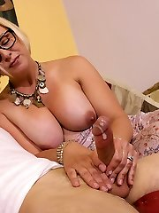Archie Gets Stroked By Step Mummy Brianna at Over40handjobs