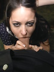 Carolina Abril is taken to a crowded tourist destination in Madrid and stripped. She is humiliated in front of a shocked crowd. Later at a rowdy bar, she is ravaged and fucked by Emilio Ardana. The horny crowd can't keep their hands off of this hot slut.
