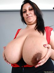 Hot Tina Trips sucking and titty fucking her favourite dildo
