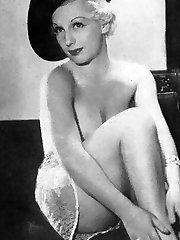 Nude vintage ladies posing