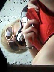 Unsuspecting beach hotties weeing onto spy camera