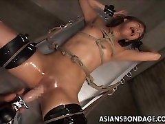 Japán bondage kibaszott gép