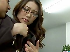 Handsome office chick bending over and fucked har