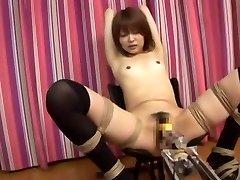 Hihetetlen Japán csaj Miyu Sugiura a Mesés Kis mell, Kibaszott Gép JAV klip