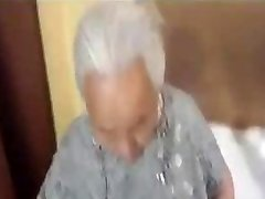 Chubby korian grandmother being pounded