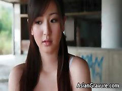 Pretty real asian model posing her part2