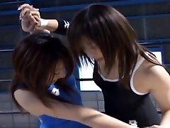 Japanese Babes Grappling