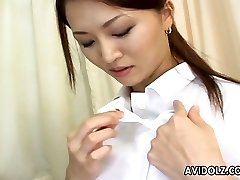 Hot and lascivious Japanese nurse is getting insane with her patient