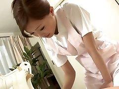 Wonderful Nurse jerks her patient's sausage as a treatment