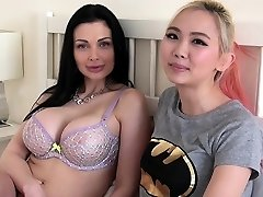 Aletta Ocean has g/g sex with busty asian nubile