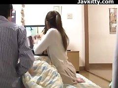 Giapponese Amatoriale Coppia Guardare Porno Insieme