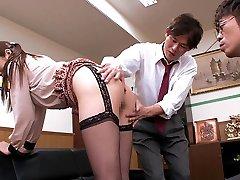 Fabulous Japanese wench Hina Akiyoshi in Hottest JAV censored Office, Big Tits video