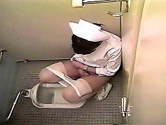 Nurse masturbates in a wc (Japan)