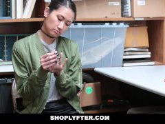 Shoplyfter - Asian Gal Busted For Stealing