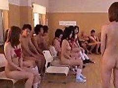 Subtitled uncensored Japanese nudist school club fuckfest