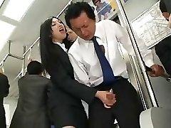 Japanese Hj In Bus