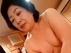 Asian granny give the hand-job