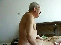 Awesome chinese elderly people having great lovemaking