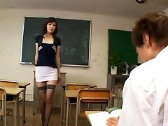 Mischievous japanese teacher - uncensored
