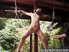 Japanische Bondage im freien (unzensiert)
