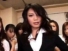 asiatique, babe en sexe de groupe