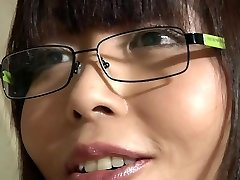 Japanese school doll takes old teacher cumshot in her mouth