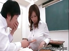Luxurious and crazy asian teacher shows her part3