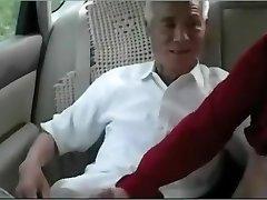 Old man japanese poke mature woman
