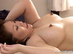 Hot mature Asian babe Wako Anto luvs posture 69