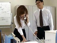 Chinese secretary from Tokyo with bum milk