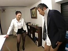 Japanese Chief fucks her employee so hard at office - RTS
