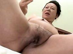 09: 30'da eski H 66 Japon ASYA Büyükanne shino moriyama-yıl - -