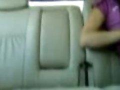 Asian Malay GF having fun in car