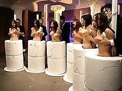 Helpless Oriental stunners getting their humungous hooters massaged