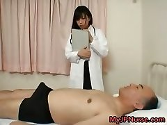 Japanese therapist is horny for chisel part1