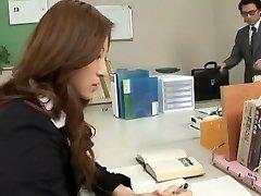 Finest Japanese whore Leila Aisaki in Horny Assistant, Voyeur JAV video