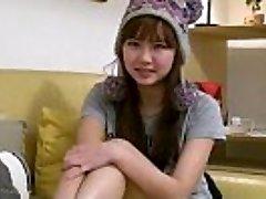 Sexy busty japanese teen girlfriend fingers