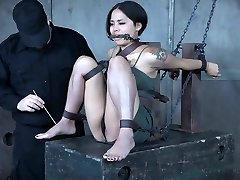 Pretty Asian babe Milcah Halili is disciplined with electro-hitachi and anal invasion beads