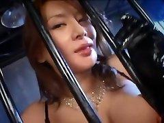 Labākais Japāņu meitene Rei Kitajima jo Traks Cumshots, Blowjob JAV klipu