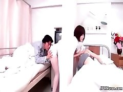 Mind-blowing Japanese nurse gives a patient some partTrio