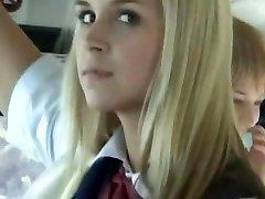Bus Utter of Blonde School Girls 3