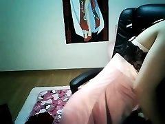 Søt Kinesisk Jente Brystvorte Piercing Hjemme opplasting av kyo solen