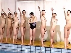 Excellent swimming team looks great without clothes