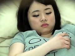 Chubby chinese stagged on