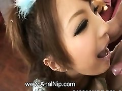 Asian college girl smoking small cock